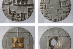 """""""Adres"""", zestaw , beton, szlagmetal, ᴓ90 mm, 2015 r."""