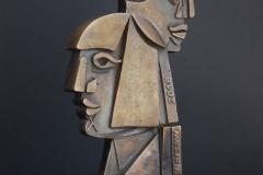 Statuetka, 26 Międzynarodowe Biennale Plakatu, Nagroda im. Józefa Mroszczaka, brąz, 2018 r.