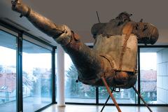 """""""Jeździec Apokalipsy"""" (the Rider of the Apocalypse), 300 x 300 x 200 cm, 1988 r."""