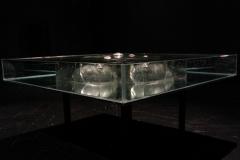 """""""Myśl"""", szkło, woda, gencjana, szer.60cm, wys. 8cm, 2008r."""