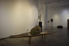 """""""I co dalej"""", glina, drewno, polichromia, wys. 100cm, dł. 350cm, 2020r."""