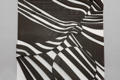 """""""Quo Vadis"""", obiekt przestrzenny, druk 3D, 40 x 40 x 2 cm, 2020 r."""