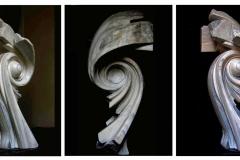 """Genisis"", marmur, 110 x 56 x 48 cm, 2014 r."
