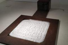 """""""Epitafium"""", metal, instalacja chłodnicza, 300x150x50 cm, 2018r."""