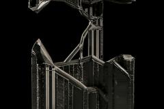 """Between"", 46x34x11cm, druk 3D, druk 3D, PLA, 2016 r."
