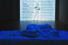 """""""Se Mi Svegli"""", fragment instalacji multimedialnej, technika mieszana, 2009 r."""